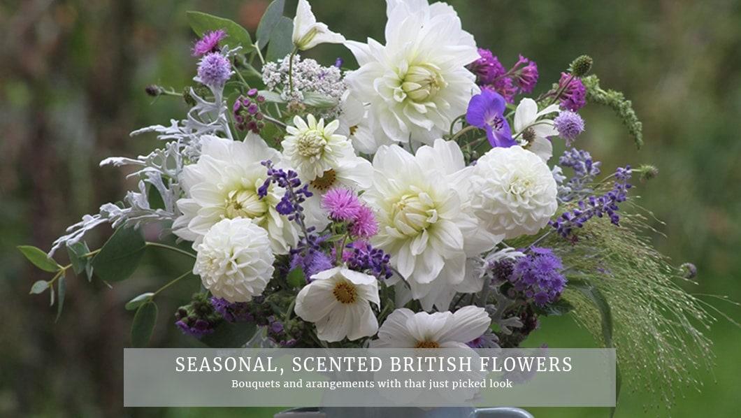 Seasonal, scented naturalistic-style British Flowers